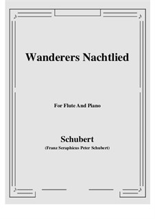Wanderer's Night Song II, D.768 Op.96 No.3: For Flute and Piano by Franz Schubert