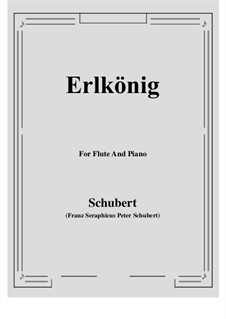Erlkönig (Forest King), D.328 Op.1: For Flute and Piano by Franz Schubert