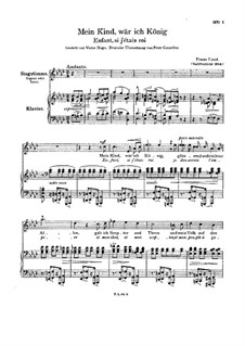 Enfant, si j'etais roi, S.283: Piano-vocal score by Franz Liszt