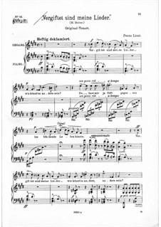 Vergiftet sind meine Lieder, S.289: Cis-Moll by Franz Liszt