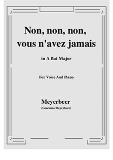 Les Huguenots: Non, non, non, vous n'avez jamais by Giacomo Meyerbeer