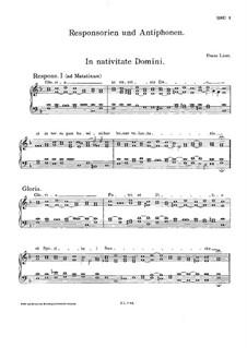 Responsorien und Antiphonen, S.30: Responsorien und Antiphonen by Franz Liszt