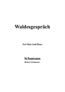 No.3 Waldesgespräch (In the Forest): For Flute and Piano by Robert Schumann