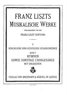 Cantico del sol di San Francesco d'Assisi, S.4: Full score by Franz Liszt