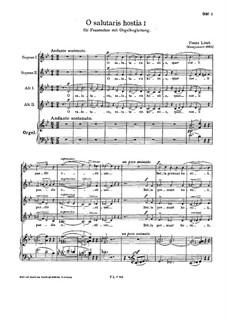 O salutaris hostia I, S.40: O salutaris hostia I by Franz Liszt