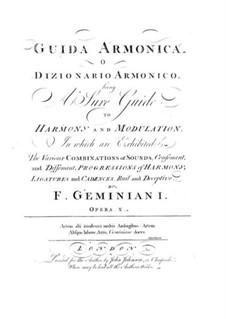 Guida armonica: Complete set by Francesco Geminiani