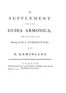 Guida armonica: Supplement by Francesco Geminiani