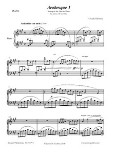 Arabesque No.1: For Flute & Piano by Claude Debussy