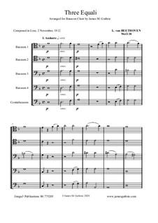 Three Equale, WoO 30: For Bassoon Choir by Ludwig van Beethoven