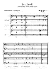 Three Equale, WoO 30: For Flute Choir by Ludwig van Beethoven