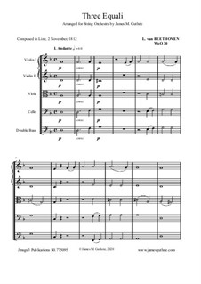 Three Equale, WoO 30: For String Orchestra by Ludwig van Beethoven