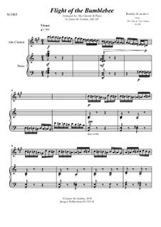 Flight of the Bumblebee: For Alto Clarinet & Piano by Nikolai Rimsky-Korsakov