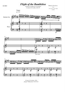 Flight of the Bumblebee: For Baritone Sax & Piano by Nikolai Rimsky-Korsakov