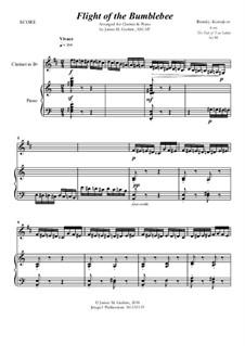 Flight of the Bumblebee: For Clarinet & Piano by Nikolai Rimsky-Korsakov