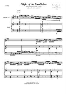 Flight of the Bumblebee: For E-Flat Clarinet & Piano by Nikolai Rimsky-Korsakov