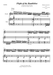 Flight of the Bumblebee: For Piccolo & Piano by Nikolai Rimsky-Korsakov