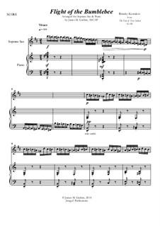 Flight of the Bumblebee: For Soprano Sax & Piano by Nikolai Rimsky-Korsakov