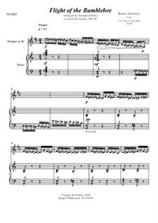 Flight of the Bumblebee: For Trumpet & Piano by Nikolai Rimsky-Korsakov