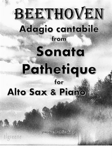 Movement II: For Alto Sax & Piano by Ludwig van Beethoven
