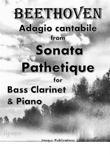 Movement II: For Bass Clarinet & Piano by Ludwig van Beethoven