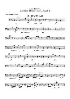 Lašské tance (Lachian Dances), JW 6/17: Dances No.3-4 – double bass part by Leoš Janáček