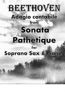 Movement II: For Soprano Sax & Piano by Ludwig van Beethoven