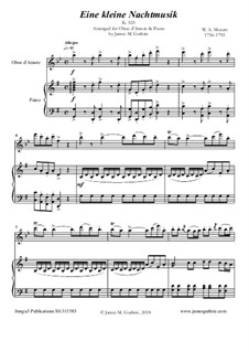 Complete Movements: For Oboe d'Amore & Piano by Wolfgang Amadeus Mozart