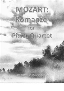 Romance: For Piano Quartet by Wolfgang Amadeus Mozart