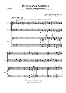Complete Cycle: For Piano Trio by Modest Mussorgsky