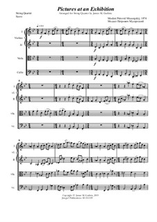 Complete Cycle: For String Quartet by Modest Mussorgsky