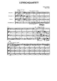 String Quartet No. 1 Inspired by Tolstoy's 'Kreutzer Sonata', JW 7/8: Full score by Leoš Janáček