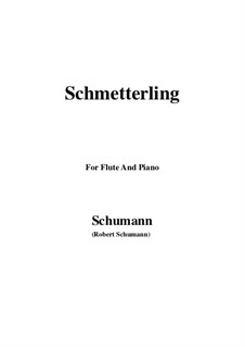 No.2 Butterfly: For Flute and Piano by Robert Schumann