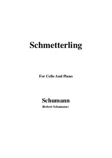 No.2 Butterfly: For Cello and Piano by Robert Schumann