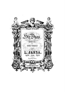 Six Duos for Two Violins, Op.74: Parts by Leopold Jansa