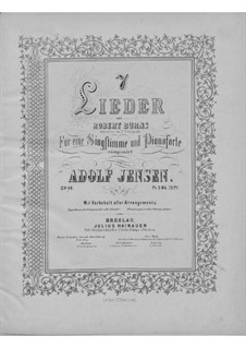 Seven Songs for Voice and Piano, Op.49: Seven Songs for Voice and Piano by Adolf Jensen