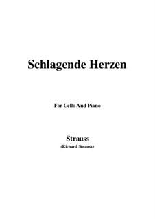 No.2 Schlagende Herzen: For Cello and Piano by Richard Strauss
