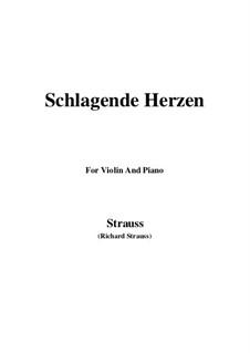 No.2 Schlagende Herzen: For Violin and Piano by Richard Strauss