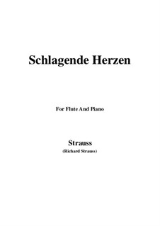 No.2 Schlagende Herzen: For Flute and Piano by Richard Strauss
