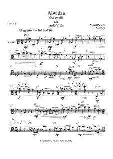 Alwidaa for Solo Viola: Alwidaa for Solo Viola by Akmal Parwez