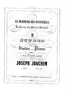 Three Pieces for Violin and Piano, Op.5: Solo part by Joseph Joachim