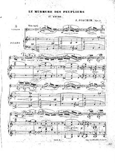 Three Pieces for Violin and Piano, Op.5: Score by Joseph Joachim