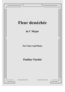 Fleur desséchée: C Major by Pauline Viardot