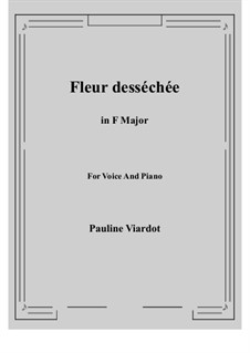 Fleur desséchée: F Major by Pauline Viardot