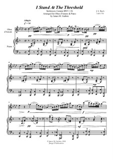 Ich steh mit einem Fuss im Grabe, BWV 156: No.1 I Stand At The Threshold for Oboe d'Amore & Piano by Johann Sebastian Bach