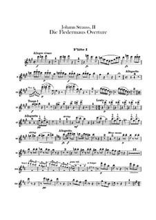 Die Fledermaus (The Bat): Overture – flutes parts by Johann Strauss (Sohn)