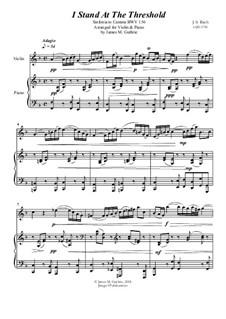Ich steh mit einem Fuss im Grabe, BWV 156: No.1 I Stand At The Threshold for Violin & Piano by Johann Sebastian Bach