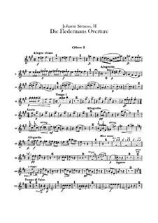Die Fledermaus (The Bat): Overture – oboes parts by Johann Strauss (Sohn)