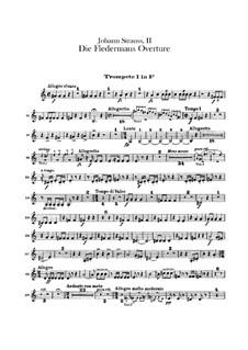 Die Fledermaus (The Bat): Overture – trumpets parts by Johann Strauss (Sohn)