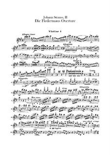 Die Fledermaus (The Bat): Overture – violins I part by Johann Strauss (Sohn)
