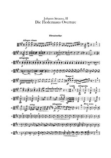 Die Fledermaus (The Bat): Overture – violas part by Johann Strauss (Sohn)